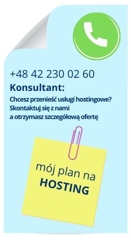 Hosting i rejestracja domen